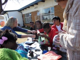 Dignity Dreams teach school girls across the country the importance of sanitary towels.