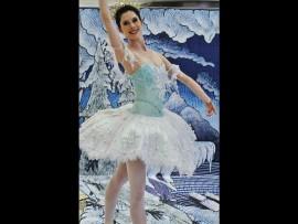 Ballerina Nicole Ferreira-Dill dancing in The Land of Snow. Photo: Kristian Meijer