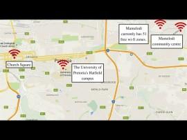 Pretoria East wi-fi hotspots.