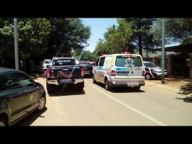 Paramedics and response units respond to man shot in Elardus Park on Wednesday morning. Photo: supplied.