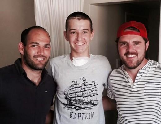 Fourie du Preez, Schalk Viljoen, en Bouwer Bosch. Foto: Bouwer Bosch/Facebook.