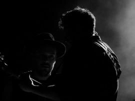Ben Lovett and Marcus Mumford. Photo: Kristian Meijer.