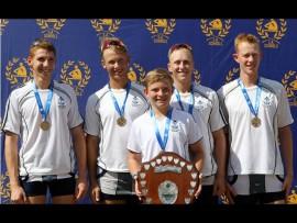 1st Quad win gold - Josh Harty, Nicholas Mason, Brad Shipp (cox), Gabriel Smith, Robert Saunders