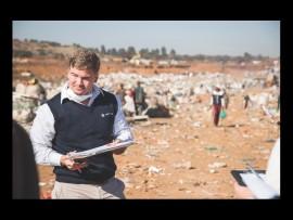 Chris Boshoff, of AfriForum, at the Hatherley dump. Photo: Rozier van Tonder