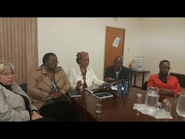 Nandi Mayathula-Khoza addresses stakeholders. Photo: Supplied