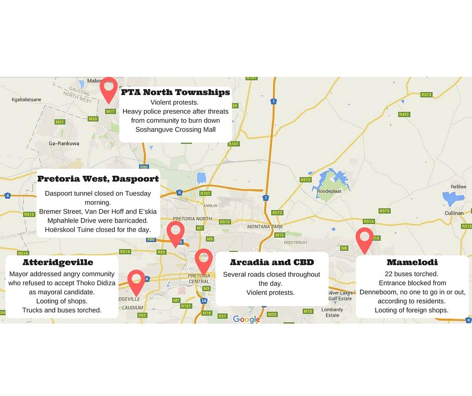 Security cluster to assess violent unrests Rekord East