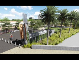 An artistic impression of the park to be built where the Caledonian Stadium currently stands. Photo: newla.co.za