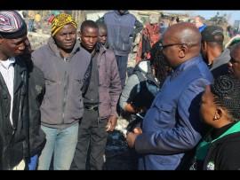 Gauteng premier David Makhura addressed residents and their relatives