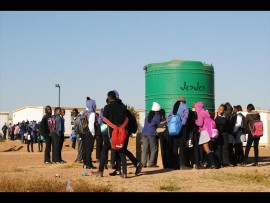 Pupils of Thuto Bohlale Secondary School in Nellmapius refused to attend class. Photo Stephen Selaluke