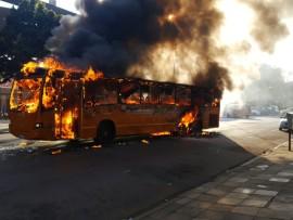 Putco bus burning on Stanza Bopape and Hamilton Streets in Pretoria. Photos: ER24