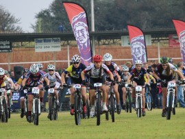 The start of the junior women race at the first league event for 2016 in Gauteng. Photo: Peridot Communications