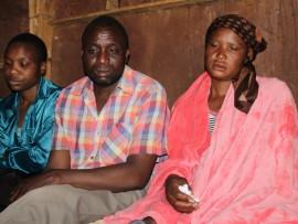 Mary Tsuma (left:aunt) Tradreck Mazorodze (father) and Joice Dube (mother) (right:mother) Photo: Ron Sibiya