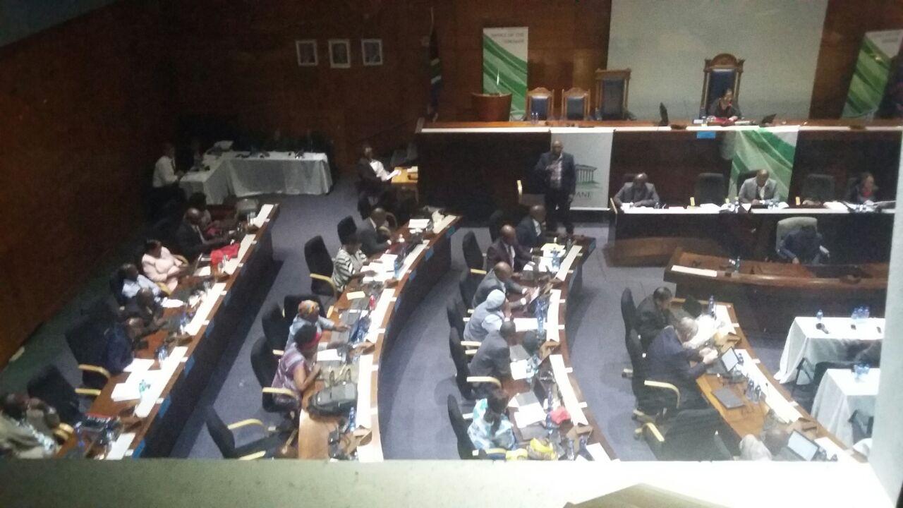 Chaos at council meeting