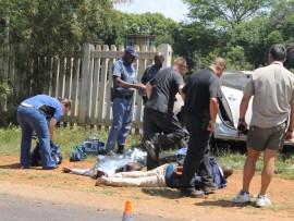 Police shootout. Photo: David Matsena