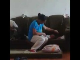Woman slapping newborn sparks outrage