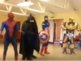 VIDEO OF THE DAY: Superheroes dance for children
