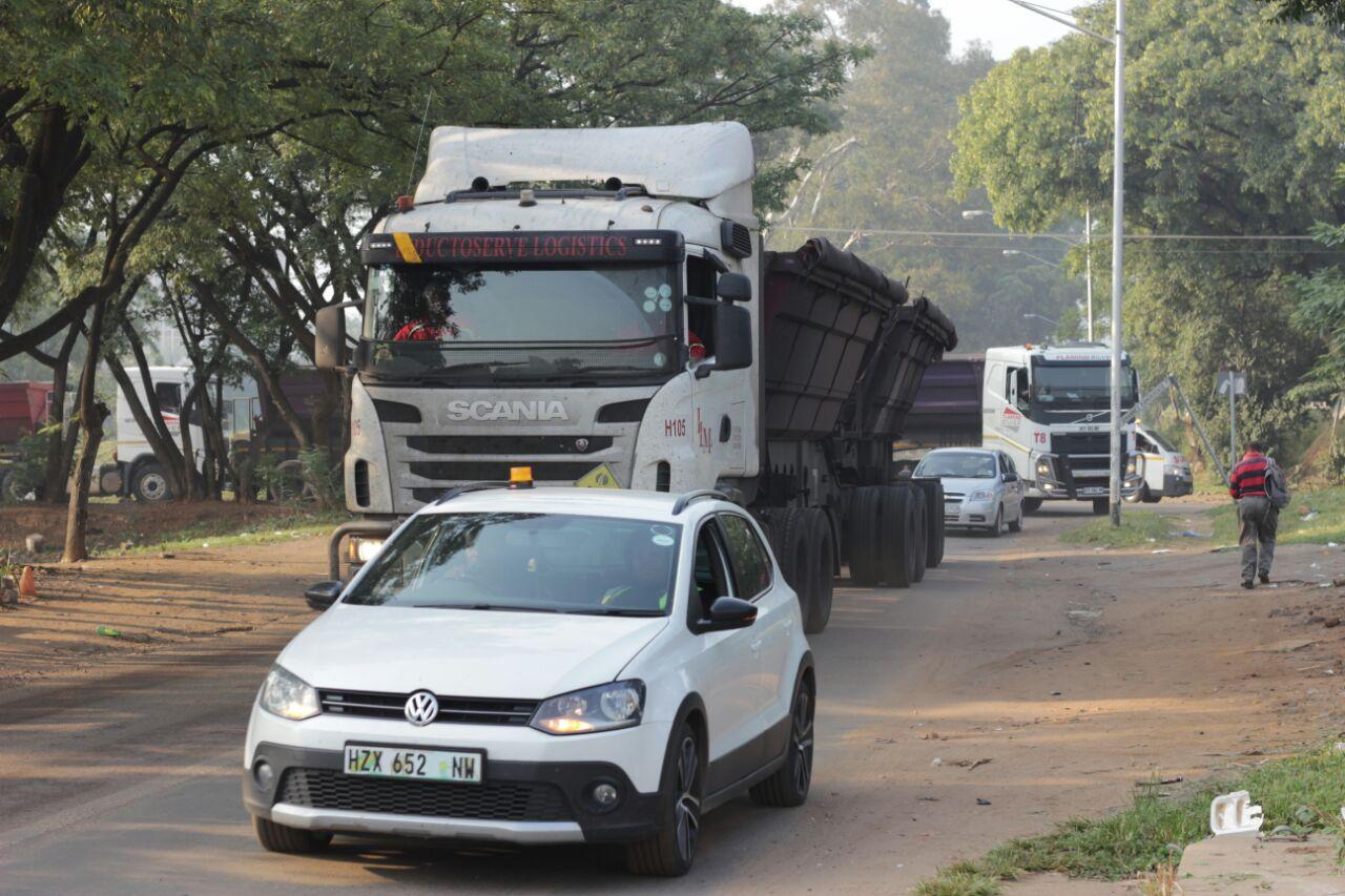 Truck Drivers Block Roads to Pretoria Central