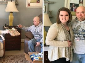 VIDEO OF THE DAY: Stepdad's birthday surprise