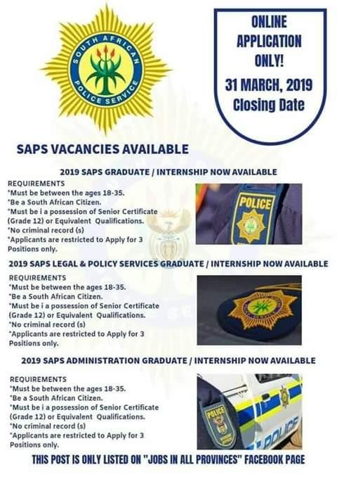 Beware of fake SAPS vacancies   Rekord East