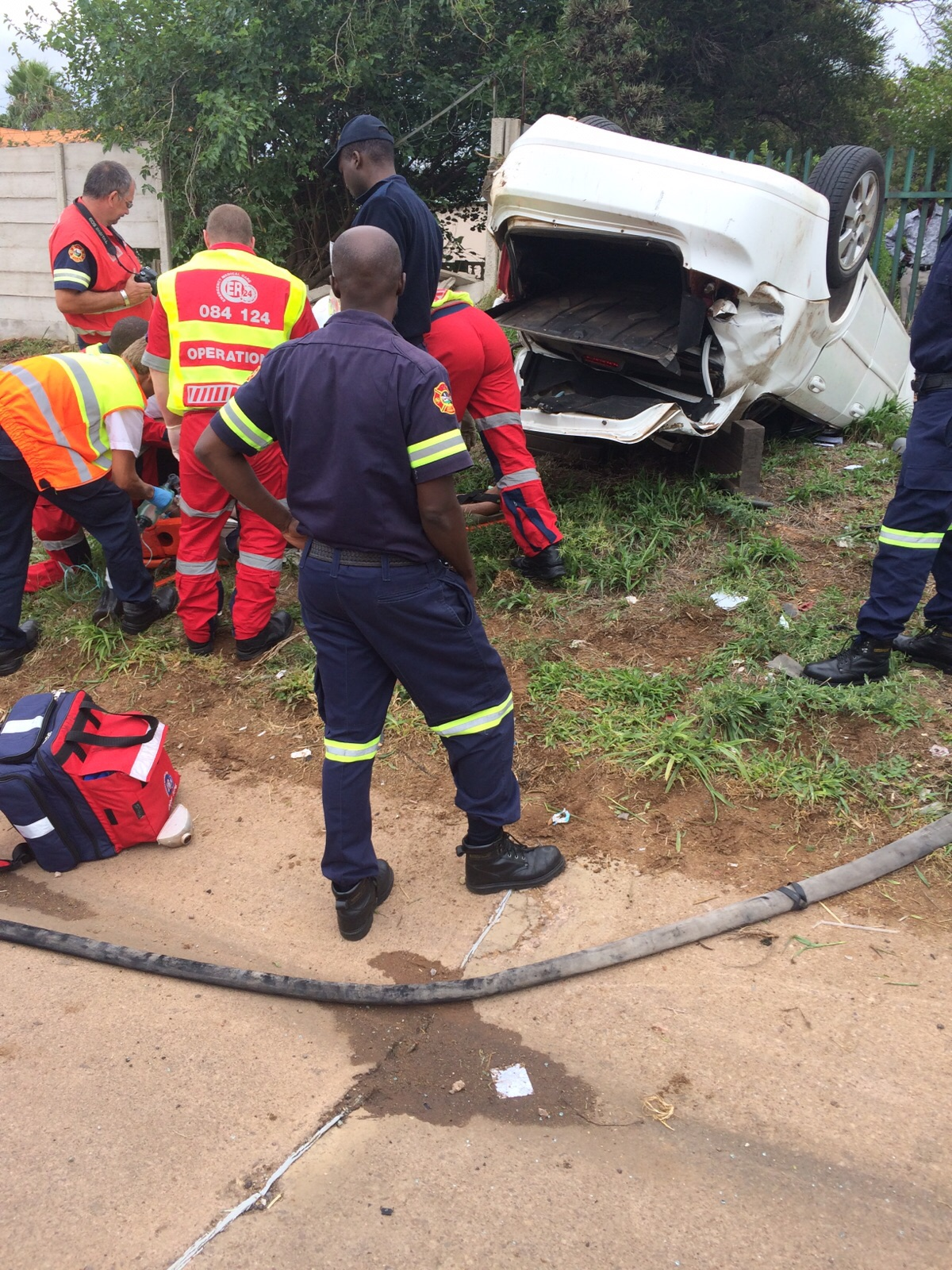 A police officer died after he was decapitated during an accident. PHOTO: Gauteng Traffic Police