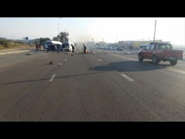 Violence has broken out in Hammanskraal with residents protesting against the evictions.