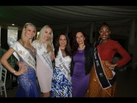 Mrs Planet South Africa 2016 Chantelle Owens, Mrs Commonwealth SA finalist 2016 Lizelle Kachelhoffer, Mrs Commonwealth 2016 Janine Kamaar, Mrs Gauteng 2015 Adéle de Beer and Mrs Tshwane 2015 Refilwe Fosu-Amoah. PHOTO: Ron Sibiya