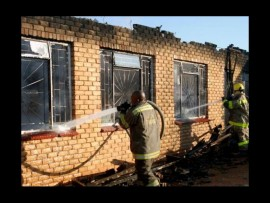 A man has been arrested after burning down the house of his girlfriend's mother.