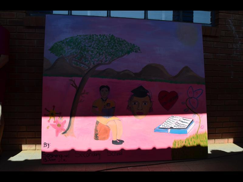 Soshanguve High pupils define education using paint | Rekord