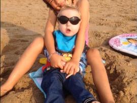 Kate Deen (Ben's sister) and Ben Deen on the beach