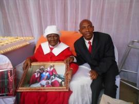 Gogo Christinah Koopedi celebrated her 100th birthday with her grandson Phillip Koopedi (50) on Sunday, 18 September.
