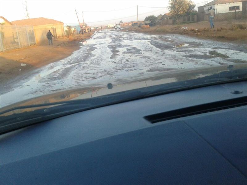 Water spills in Extension 13, Soshanguve. Photo: Supplied