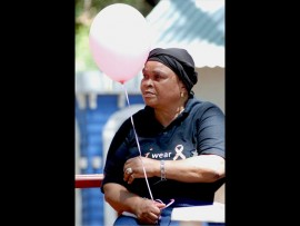 Miriam Nkobene watched Suné and her sister grow up. She was one of the people who joined the remembrance event on Sunday. Photo: Supplied