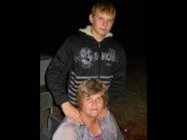 Keanu Badenhorst and his grandmother Adri Storm. Photo: Facebook.