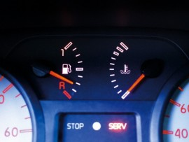 Fuel and water gauge