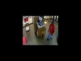 One of the robbers was wearing a Vodacom-branded T-shirt. PHOTO: South African Police Service