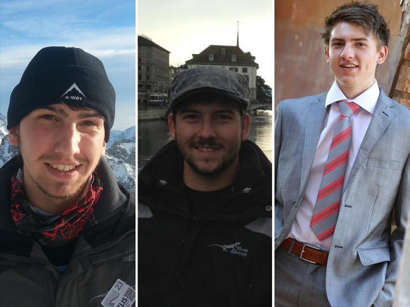Emile, Phillip, en Juan Diedericks. Foto's: Facebook