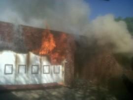 STOCK PHOTO: house burning