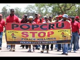 Popcru members on their way to the Union Buildings last year. Photo: Kristian Meijer