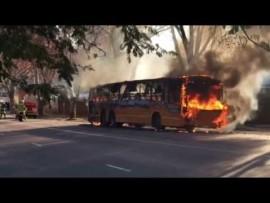 VIDEO: Bus burns down in Pretoria