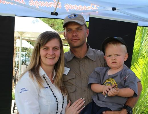 Family Carike, Danie and Jorrie Jordaan.
