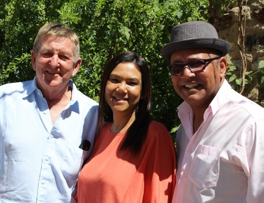 Peet du Preez owner of Leriba, Christa can Rheed of Agri SA and Jacques Rheede.