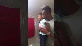 This dad and daughter have a powerful morning affirmation