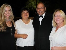 Henra Mayer, Amanda Berry, Kol William Leukes (Master of Ceremony) and Ria du Barry.  Photo: Eliot Mahlase