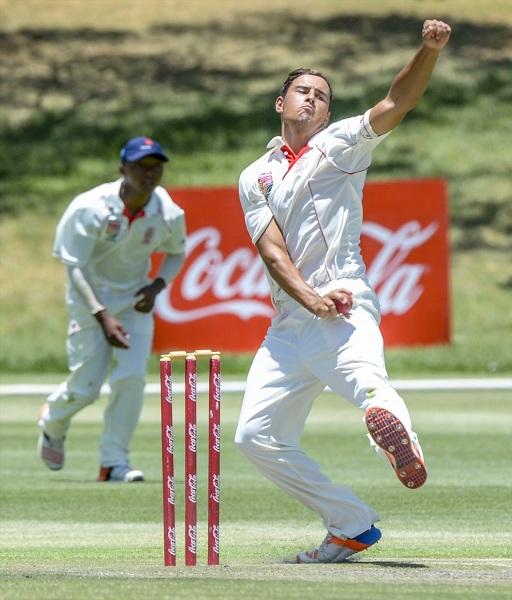 Beyers Swanepoel in action at the Khaya Majola Cricket Week in Bloemfontein. Photo: Coca Cola