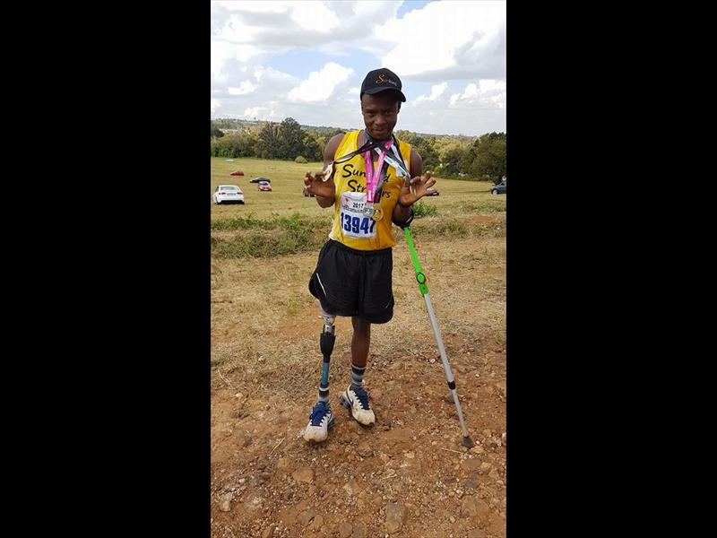 Xolani Luvuno After Completing The Run Photo Supplied