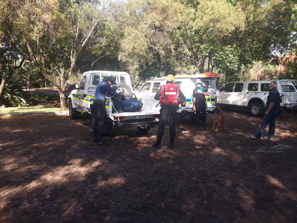 Police Diving Team Searches For Missing Person In Hennops