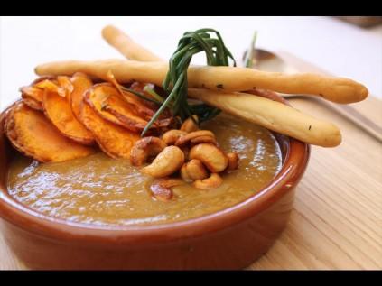 Sweet potato and cumin soup.