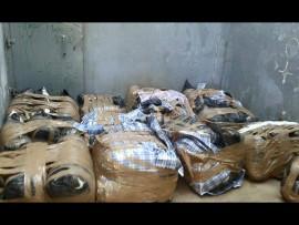 The large haul of dagga. Photo: SAPS Facebook.