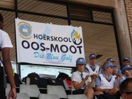 Die Hoërskool Oos-Moot het as wenners uit die stryd getree by Donderdag se B-bond interhoër atletiekbyeenkoms. Foto: Koos Venter