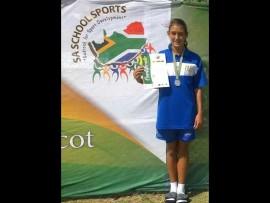 Joané Gerber het onlangs uitgeblink by die SA primêre skole-atletiekkampioenskap. Foto: Verskaf